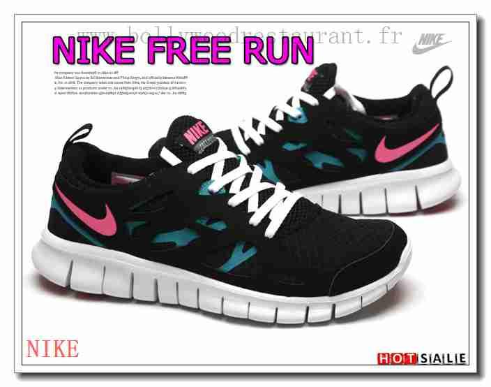 nike free run 2 femme pas cher noir et blanche