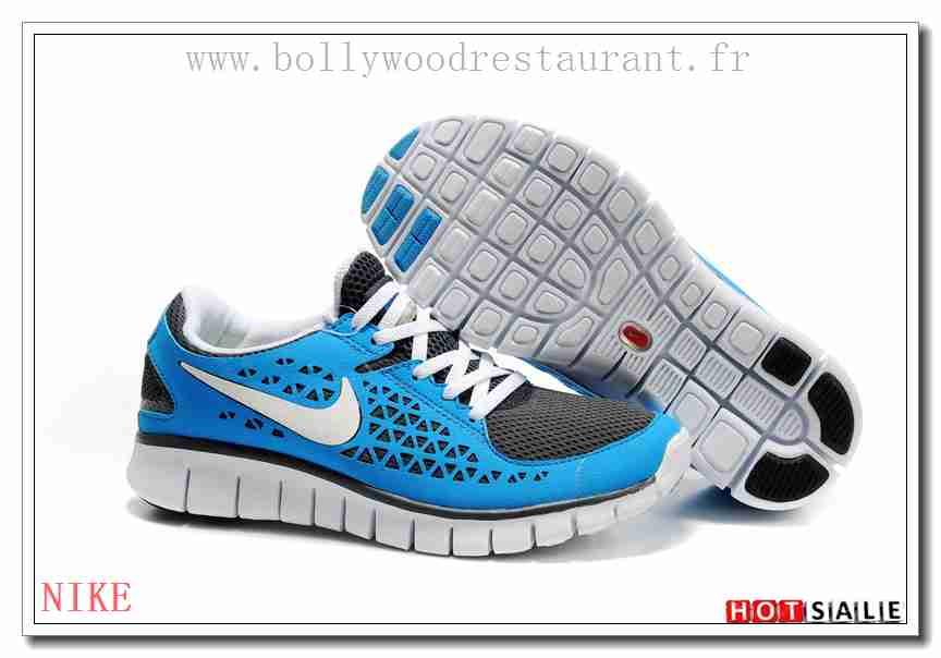 official photos d7f6e bd221 YL0536 L amour Nike Free Run + DodgerBleu blanc Noir 2018 Nouveau style  Soldes - F.R.J.929 - Femme s Sneakers