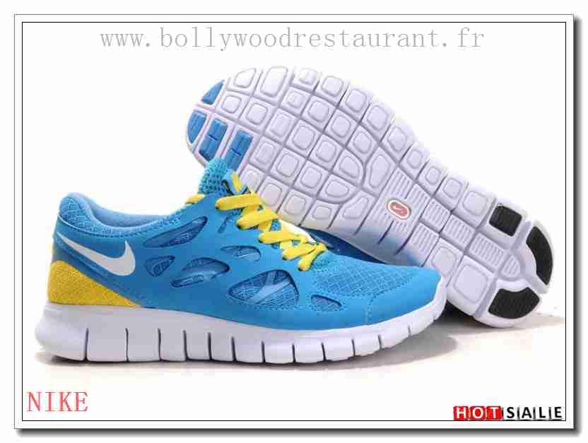 finest selection 1e8d9 5de8f UG9531 Classic Styles Nike Free Run 2 Lightweight SkyBleu blanc Jaune 2018  Nouveau style Soldes -