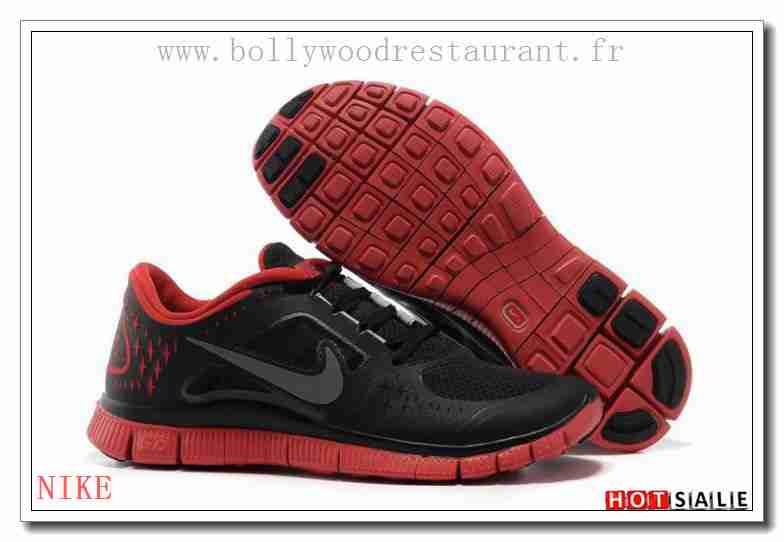 énorme réduction c5277 4df8e ZJ1954 Pas Cher Nike Free Run + 3 Training Firebricks Noir ...