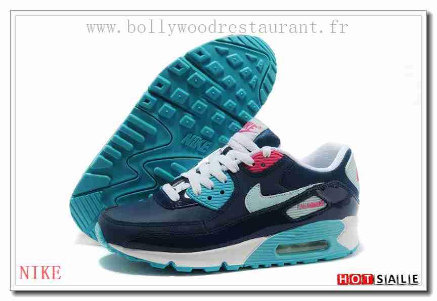 sports shoes b7d6b fc107 ZR9544 Nouvelle Collection 2018 Nouveau style Nike Air Max 90 - Femme  Chaussures - Bleu Promotions Vente - H.K.Y. 802 - Taille   36~39