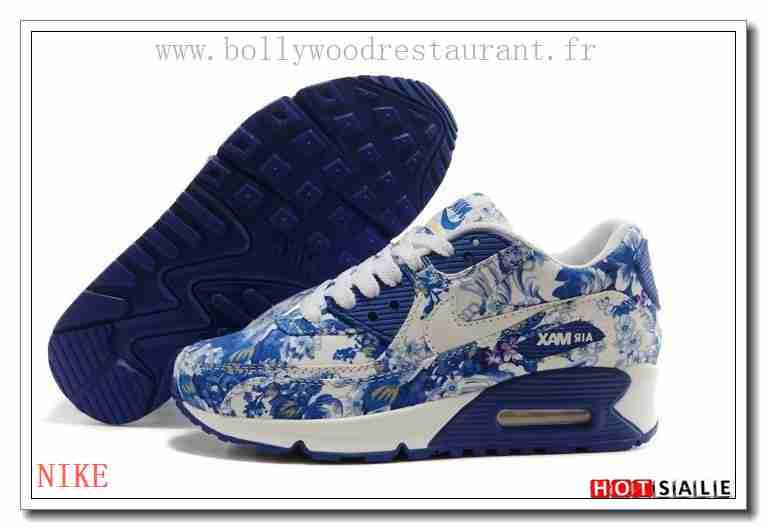 new arrival 5095c fed00 KT0008 Qualité 100% Garanti 2018 Nouveau style Nike Air Max 90 - Femme  Chaussures - Bleu Promotions Vente - H.K.Y. 067 - Taille   36~39