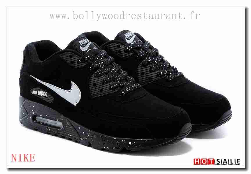 XY6061 Promotions 2018 Nouveau style Nike Air Max 90 - Femme Chaussures - Noir Promotions Vente - H.K.Y.&434 - Taille : 36~39