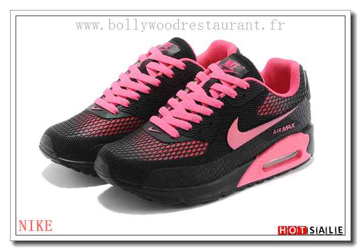best service 64fd3 4954e HF8910 OmniShield 2018 Nouveau style Nike Air Max 90 - Femme Chaussures -  Noir Rose Promotions Vente - H.K.Y. 655 - Taille   36~39