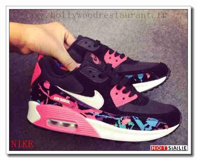 EH3618 Ultra Coton 2018 Nouveau style Nike Air Max 90 - Femme Chaussures - Noir/Rose Promotions Vente - H.K.Y.&347 - Taille : 36~39