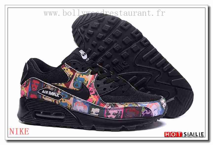 check out 191d9 4c5cc OO2926 élégant 2018 Nouveau style Nike Air Max 90 - Femme Chaussures - Noir Rose  Promotions Vente - H.K.Y. 500 - Taille   36~39