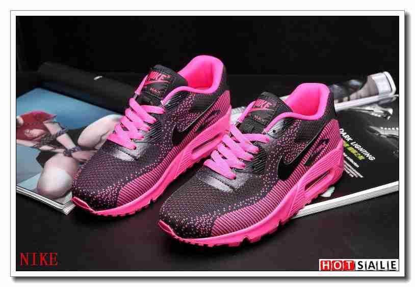 6a506a8475e1b NG4855 Chaud 2018 Nouveau style Nike Air Max 90 - Femme Chaussures - Noir  Rose Promotions Vente - H.K.Y. 335 - Taille   36~39