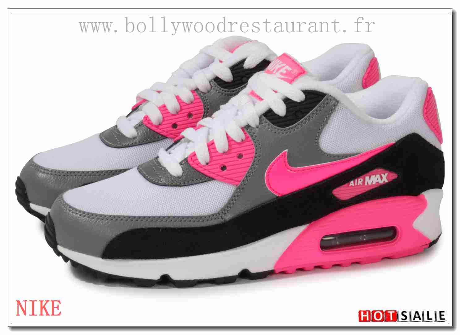 FC4873 Soldes 2018 Nouveau style Nike Air Max 90 - Femme Chaussures - Rose Promotions Vente - H.K.Y.&860 - Taille : 36~39
