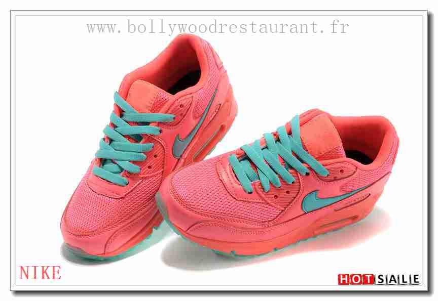 best website 02333 8cc2b MG0482 Comme La Plupart 2018 Nouveau style Nike Air Max 90 - Femme  Chaussures - Rose