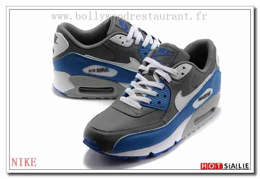 new style 61565 633ae RS2552 De Haute Qualité 2018 Nouveau style Nike Air Max 90 - Homme  Chaussures - Grise