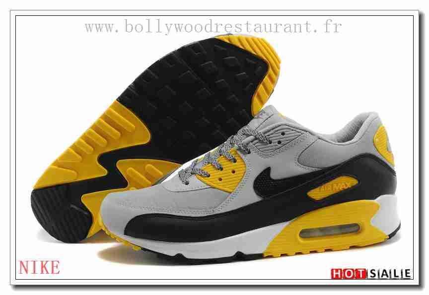 more photos eb648 889fc BN7595 Spécial 2018 Nouveau style Nike Air Max 90 - Homme Chaussures - Grise  Promotions Vente - H.K.Y. 871 - Taille   40~44