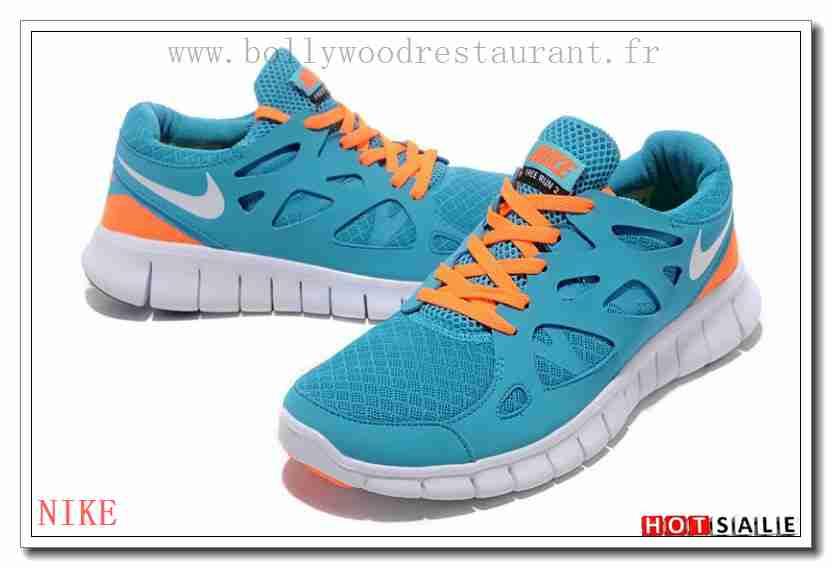 best website 5a74a 0c508 EB7114 Doux Nike Free Run 2 Light Bleu blanc Orange 2018 Nouveau style  Soldes - F.R.J.258 - Homme s Chaussures Training