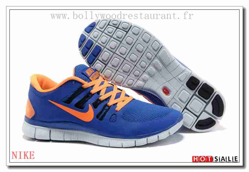 huge discount 9125e 52040 NG0180 hot Mall quality imported Nike Free Run+ 50 RoyalBleu Orange 2018  Nouveau style Soldes -