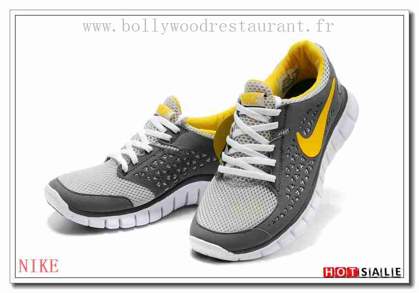 TY3000 Classique Nike Free Run + Dark gris Jaune gris blanc 2018 Nouveau  style Soldes - F.R.J.127 - Femme's Chaussures décontractées