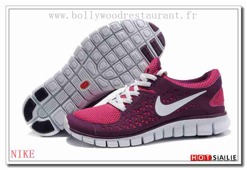 huge discount 35618 b1d59 CQ6487 jeune fabuleux Nike Free Run + Fireberry Rose rouge blanc 2018  Nouveau style Soldes -
