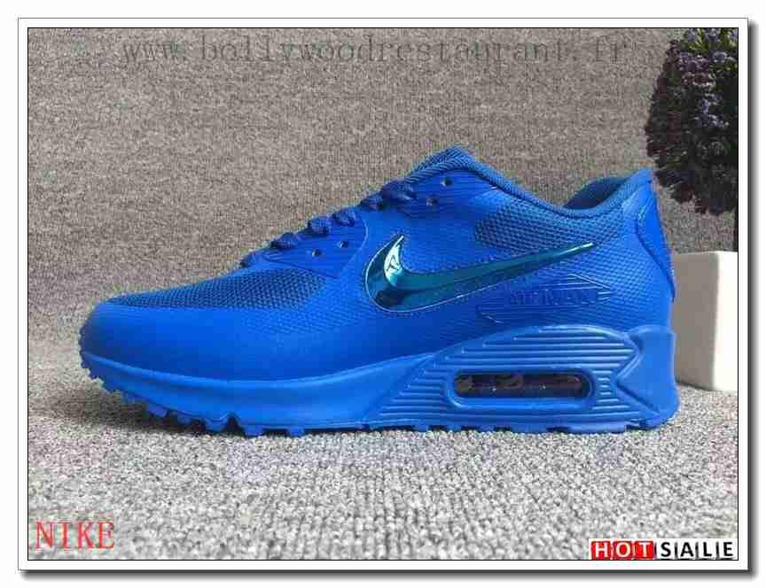 chaussures de sport abff2 fa209 SG8296 Coûteux 2018 Homme's Air Max 90 2016 blanc/noir/Bleu ...