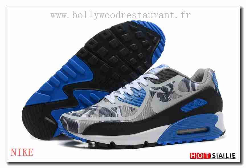 save off c5afa c06c5 MV8283 Soldes 2018 Femm s Air Max 90 2014 blanc noir Bleu Vente Chaude en