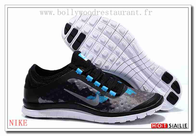 new style 09b16 ac702 TK2590 Mall specifically for 2018 Homme s Free Run 3.0 V7 blanc noir Bleu  Soldes