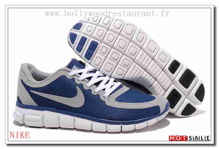 official photos e3c64 9b2d2 GU0797 Discount online 2018 Homme s Free Run 5.0 V4 blanc noir Bleu  Promotions Vente
