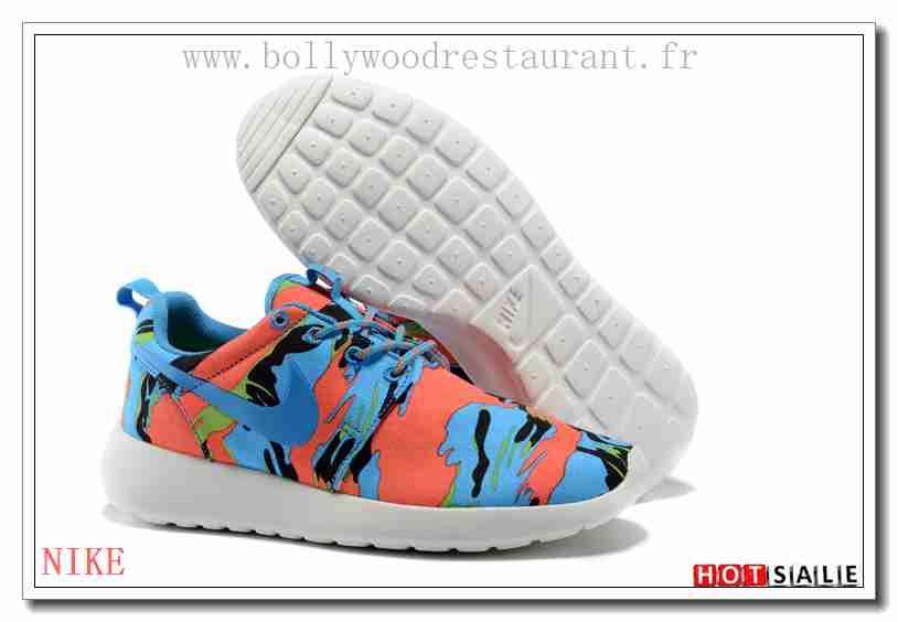 acheter populaire f0a99 94fdb VU6745 Parfait 2018 Homme's Roshe Run Print blanc/noir/Bleu ...