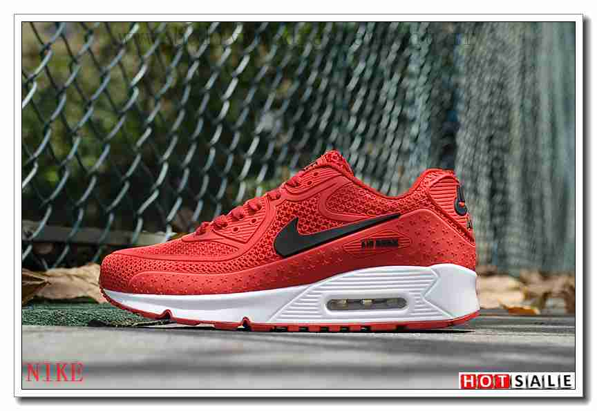 OW5762 Boutique Pas Cher 2018 Homme's Air Max 90 2018 rouge Promotions Vente - F.R.A.N.C.E781 - NIKE AIR MAX