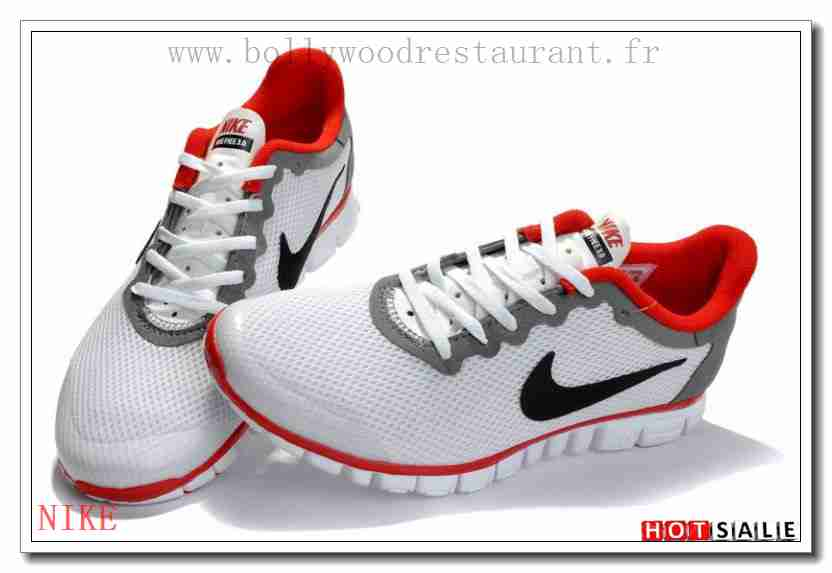 Fc0108 Haute Qualité Nike Free Run 30 V2 Blanc Crimson DarkGris 2018