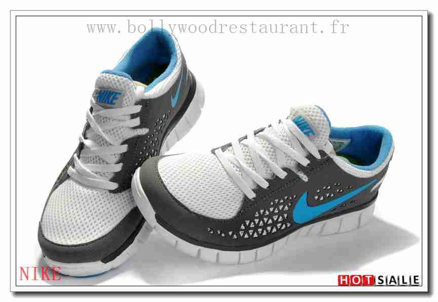 OT8320 Meilleur Prix Chaussure Nike Free Run + blanc gris DodgerBleu 2018  Nouveau style Soldes - F.R.J.892 - Femme's Chaussures de course