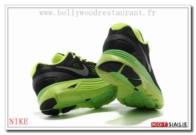 CY9402 Nouveaux Designs Nike LunarGlide 4 Mesh Noir Jaune Springvert